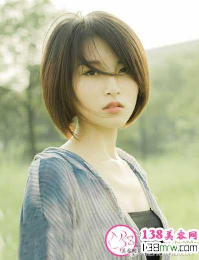 圆脸短发发型设计 圆脸短发发型图片精选